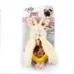 Jucarie pentru caini All for Paws Dental iepure 27x20x8 cm