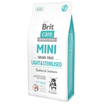 Hrana uscata pentru caini Brit Care Mini Grain Free Light si Sterilised 7 kg