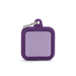 Medalion tag MyFamily Purple Square Rubber 74366