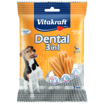 Recompensa pentru caini Vitakraft Dental Snack 3in1 Small 120gr