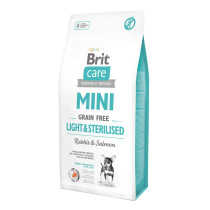 Hrana uscata pentru caini Brit Care Mini Grain Free Light & Sterilised 2kg