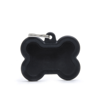 Medalion tag MyFamily Os Negru Rubber 74229