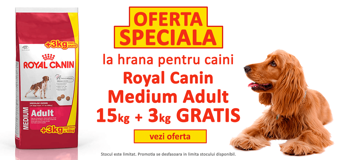 Royal Canin Medium Adult 15 kg + 3 kg GRATIS | Animax.ro